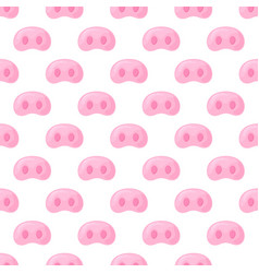 pig s snout festive seamless pattern for the new vector image