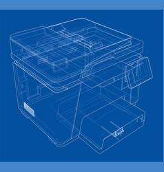 Printer concept vector