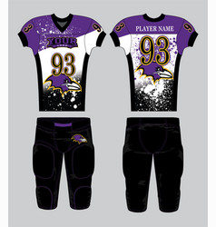purple black white color american football vector image