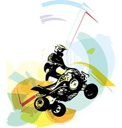 Quad bike vector image