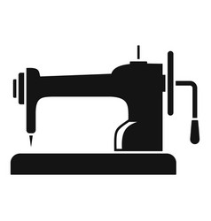 Retro sew machine icon simple style vector