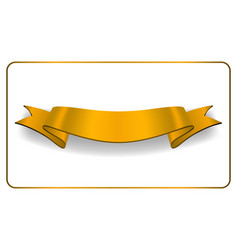Ribbon gold banner satin blank collection vector