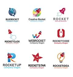 Rockets spaceship symbol vector