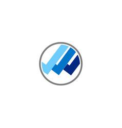 round shape line logo vector image