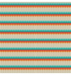 Seamless Striped knitting pattern vector image