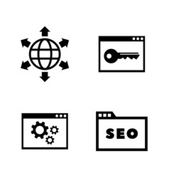 search engine optimization simple related icons vector image