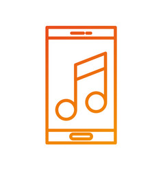 smartphone note music volume list vector image