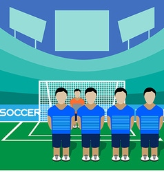 Soccer Club Team on a Stadium vector