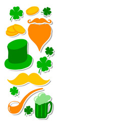 st patricks day set with vector image