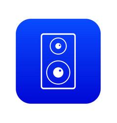 Subwoofer icon digital blue vector