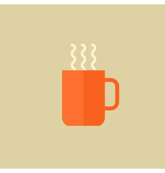 Tea drink flat icon vector