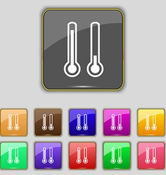 thermometer temperature icon sign Set with eleven vector image