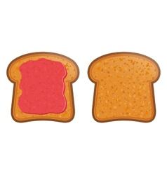 Toast with jam vector
