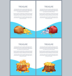 treasure posters with text vector image