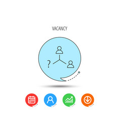 vacancy or hire job icon teamwork sign vector image