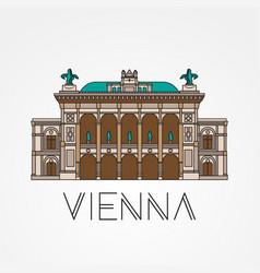 vienna state opera - symbol austria vector image