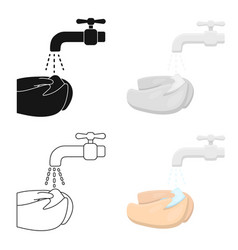 washing hands icon cartoon single sick icon from vector image