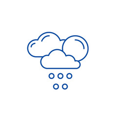 weather forecast line icon concept weather vector image