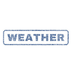 Weather textile stamp vector