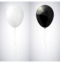 White and black shiny glossy balloons vector