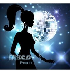 Disco Party invitation vector image
