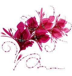 Floral background stylized flowers vector image vector image