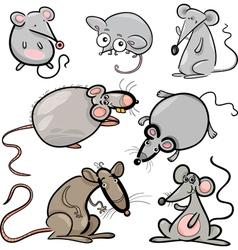 mice and rats set cartoon vector image