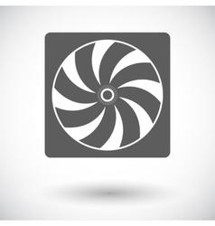 Radiator fan flat icon vector