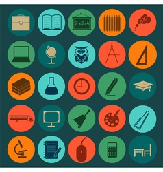 Set education icons vector image