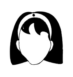 avatar female person head vector image vector image