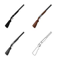hunting rifleafrican safari single icon in vector image