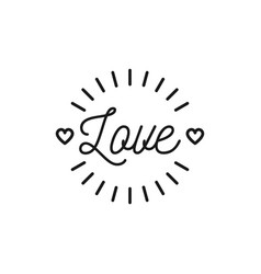 love text icon valentines symbol love hipster vector image vector image