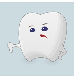 Tooth with thumb down vector image vector image