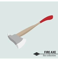 Axe to deal with obstacles in the fire situation vector image