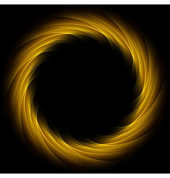 Dark glow orange swirl background vector