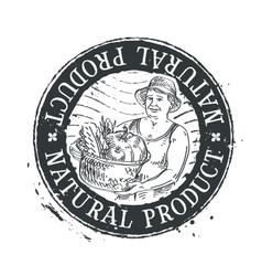 gardening horticulture logo design vector image vector image