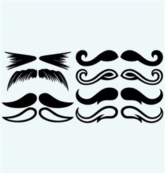 Set mustache vector image vector image