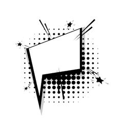 Template comic speech square star bubble vector image