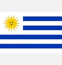 Uruguayan flag vector image vector image