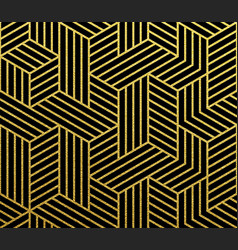 Abstract geometric gold pattern background vector