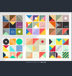 abstract of geometric pattern background set in vector image