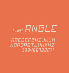 angle font alphabet letters vector image