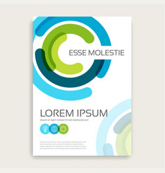 annual report brochure design cover with vector image
