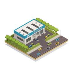 auto service composition vector image