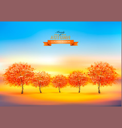 beautiful gold autumn nature background with vector image
