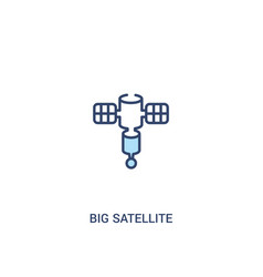 Big satellite concept 2 colored icon simple line vector