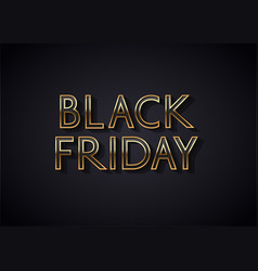 black friday sale banner or poster design vector image
