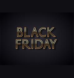 black friday sale banner or poster design vector image