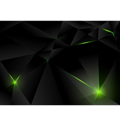 Black Lightning Crystals vector