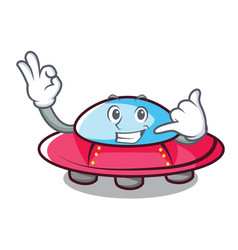 call me ufo mascot cartoon style vector image